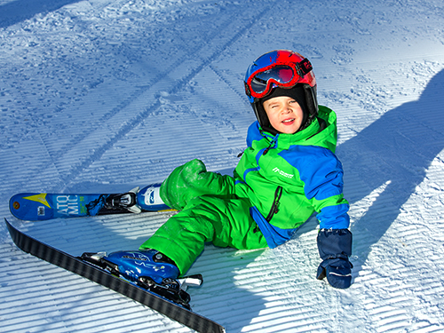 children ski snowboard lessons in megeve, english russian speaking instructor